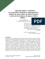 Transgresión Lógica y Semántica en La Literatura Fantástica Contemporánea. Análisis de Un Cuento de Cortázar,,,