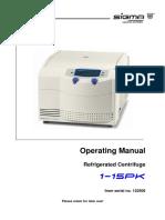 Sigma Microfuge 1-15PK Manual