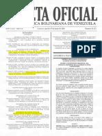Gaceta Oficial N° 41422 Designaciones Viceministros