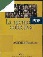 La Memoria Colectiva - Maurice Halbwachs
