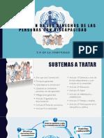 Convención de Los Derechos de Las PCD. Presentacion