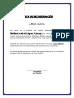Carta de Recomendación ISA