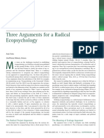 Three Arguments for a Radical Ecopsychol