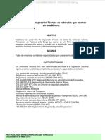 Material Protocolos Inspeccion Tecnica Vehiculos Livianos Camionetas Minera Sistemas Componentes Accesorios Seguridad