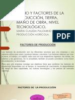 Segunda Exposicion Medio y Factores de La Producción, Tierra