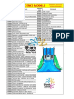 General Science Models List
