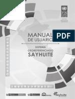 Manual Sayhuite