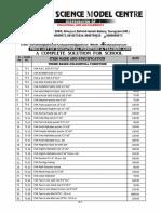 Price List Preparatory Schools