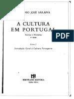 A Cultura Em Portugal - António José Saraiva