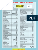 Price List Biology Lab Equipment