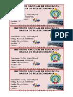 Identificadores Tercero a-2018