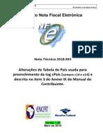 NT 2018.003- V1.00 -Tabela de País