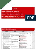Programación Lengua Castellana 4