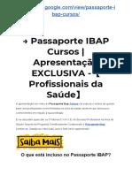 → Passaporte IBAP Cursos   Apresentação EXCLUSIVA -【Profissionais da Saúde】
