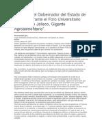 Foro Universitario Rostros de Jalisco