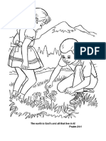 Ps. 24.1 Coloring Page
