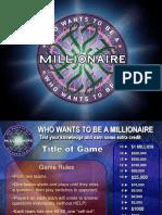 Millionare Game Template
