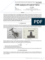A Review on CFD Analysis of Control Valves