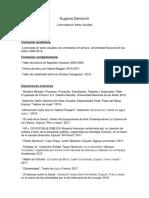 Curriculum Vitae Eugenia Demarchi 2018