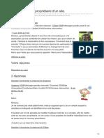 Commentcamarche.net-Changement de Propriétaire Dun Site