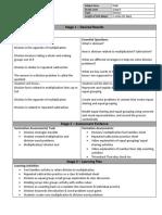 division unit plan