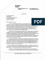 Dept of Health letter to Syracuse Water Dept