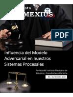REVISTA INMEXIUS N. 10 (2017).- Influencia Del Modelo Adversarial en Nuestros Sistemas Procesales