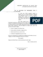 SOLICITO La Aprobación Del Perfil de Proyecto de Tesis Dirigida a DECANO