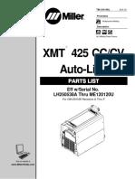 Xmt 425 Cc Cv Parts List