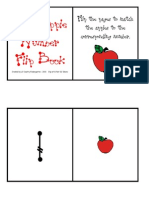 My Apple Number Flip Book