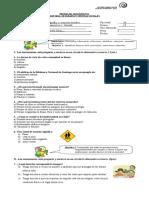 Prueba de Diagnostico 3ºs (Reparado)