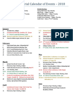 2018 Wells Memorial COGIC - Calendar of Events