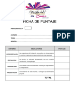 Ficha de Puntaje