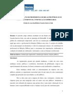 A Contribuicao Do Profissional de Rp No Desenvolvimento Da Comunicacao Empresarial