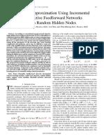 Universal Approximation Using Incremental Constructive Feedforward Networks With Random Hidden Nodes