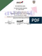 Certificado Altura - Luis Simanca