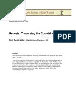 Rich David Miller Genesis Traversing the Correlation
