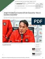 Jorge Vivaldo Es El Nuevo DT de Chacarita_ _Soy El Hombre Más Feliz_ - 02-07-2018 - Clarín