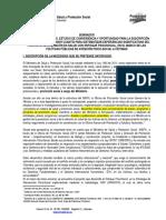 Pliegos de Condiciones Preliminar Sistematización de Experiencias