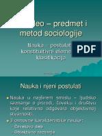 1. Nauka - Postulati, Konstitutivni Elementi i Klasifikacija