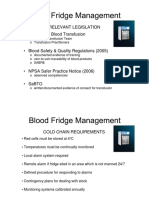 Blood Fridge Management