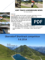short-track luxembourg - newsletters 1 to 27 - 2014-2015