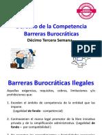 13° DÉCIMO TECERCA SEMANA  BARRERAS BUROCRÁTICAS