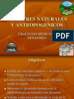 Desastres Naturales y Antropogenicos