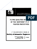 1977 Gallagher, J. T. Et Al Flying Qualities Design of the Northrop YF-17 Fighter Prototypes