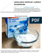 6Formas Eficazes Para Remover aPlaca Bacteriana Naturalmente
