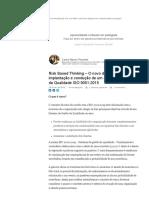 Risk Based Thinking – O Novo Desafio Para a Implantação e Condução de Um Sistema de Gestão Da Qualidade ISO 9001_2015 _ Carlos Alberto Pimentel _ LinkedIn