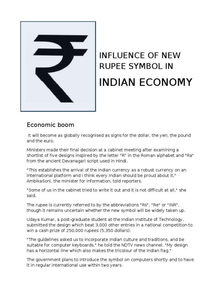 Influence Of Rupee Symbol In Capital Account Capital Control