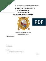 Circuitos Electrónicos 2 informe Final 1 Configuración en Cascada