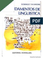Fundamentos de Linguistica - Tavarone